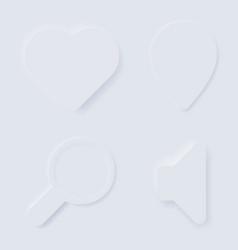 Neomorphism designs ui components design trends vector