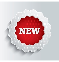 New glass star button Special offer icon vector image
