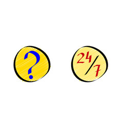 Online faq or frequently asked questions icons vector