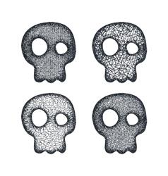 Ornament skull set vector