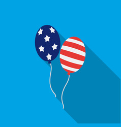 patriotic balloons icon in flat style isolated on vector image