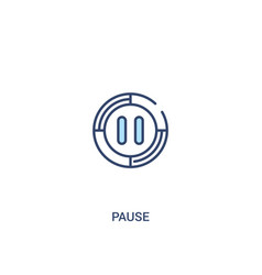 Pause concept 2 colored icon simple line element vector