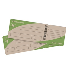 plane tickets couple vector image