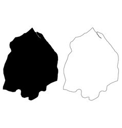 Pomeroon-supenaam region administrative regions vector