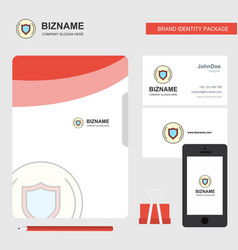 Protected sheild business logo file cover vector
