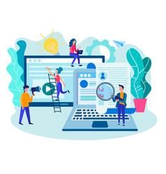 recruiting recruitment recruitment office team vector image