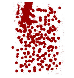Red drops of human blood on a white vector