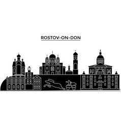 Russia rostov-on-don architecture skyline with vector