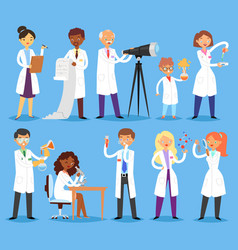 scientist professional people character vector image