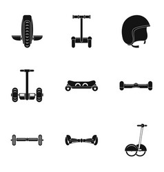 Segway icon set simple style vector