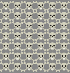 skull and bones seamless pattern skeleton vector image