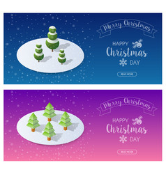 snow covered christmas vector image