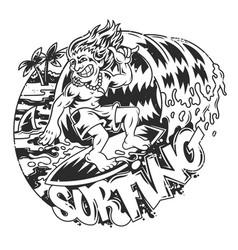 surfing man vector image