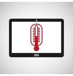 tablet mobile app thermometer vector image