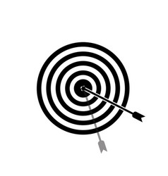 Target icon in shape with a white background vector
