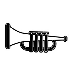 Trumpet music instrument vector