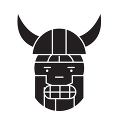 viking emoji black concept icon viking vector image