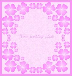 Wedding pink frame vector