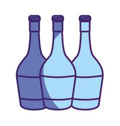 Wine bottles taste beverage vector