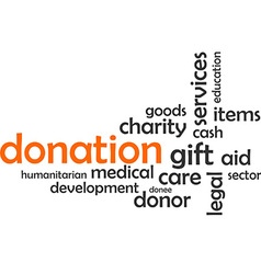 Word cloud donation vector