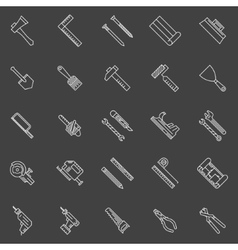 Work tools line icons vector image vector image