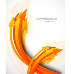 Abstract background with arrows vector image vector image