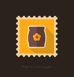 bag sack flower seed retro flat stamp vector image vector image