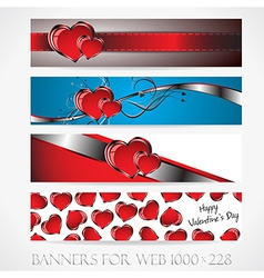 Banners for web Love collection9 vector image vector image