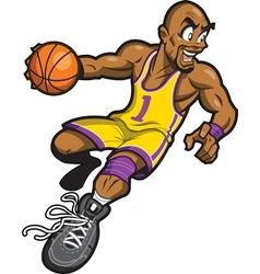 Black Basketball Player vector image