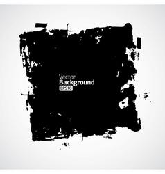 Ink splat banner with grunge effect in black vector image vector image