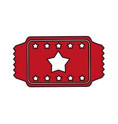 red ticket design vector image vector image