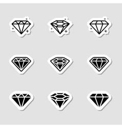 Diamond Icons Set as Labes vector image
