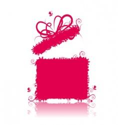 gift box open present vector image vector image