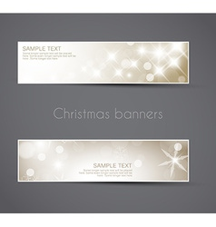 Set of christmas New Year banners vector image vector image