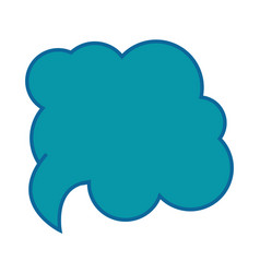 Speech cloud icon vector