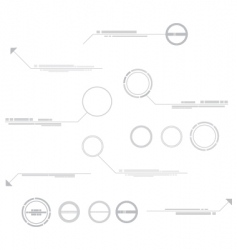 technical elements vector image vector image