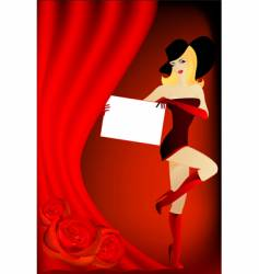 woman curtain and board vector image