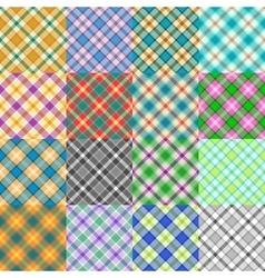 Fantasy Tartan Patterns vector image