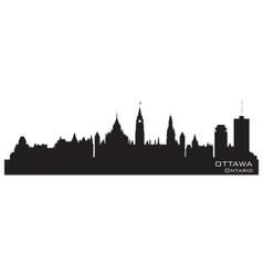 Ottawa Canada skyline Detailed silhouette vector image