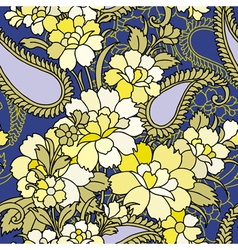 Seamless pattern with flowers vector image