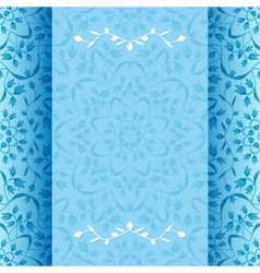 Invitation card with blue flowers vector image vector image