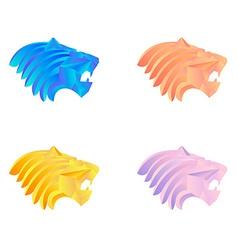 lion logo template vector image vector image