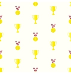Medal cup seamless pattern vector