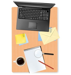 notebook and office supplies vector image vector image