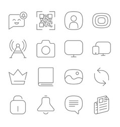 simple web icons set universal web icon to use in vector image vector image