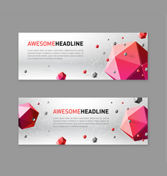 3d lowpoly abstract flyer template vector