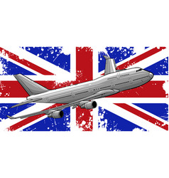 a passenger plane flying vector image