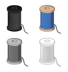 A reel of blue threadsewing or tailoring tools vector