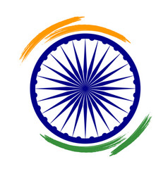 Abstract india flag sign vector