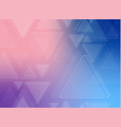 abstract of futuristic colorful triangle pattern vector image